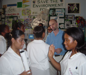 John Gray Recyclers interact with Dr Cottam