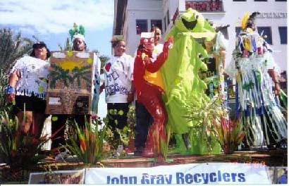 John Gray Recyclers in Pirates' Week Float Parade October 2000