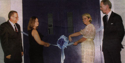 The Cutting of the Ribbon to open the Youth Centre