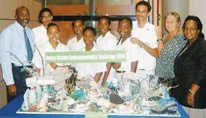Our Env Project showcased at Cayman National Bank