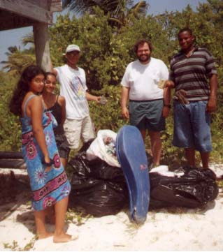 Garbage Clean Up - Point of Sand, Little Cayman