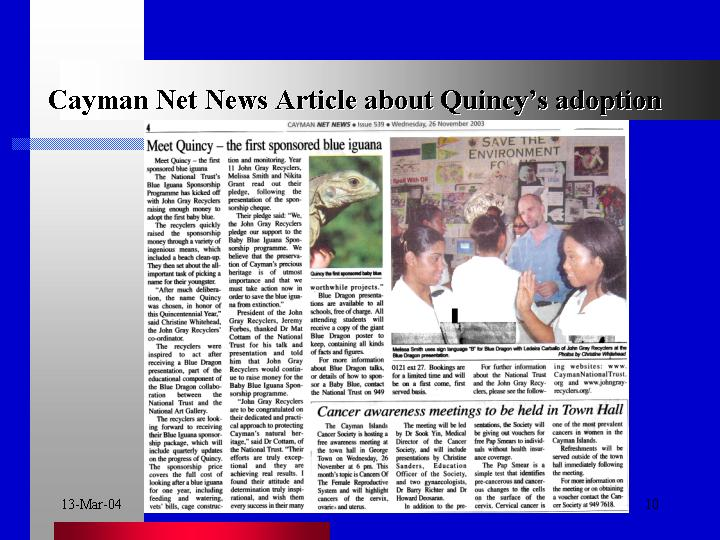 Quincy makes news