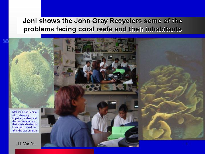 Joni shows us the problems our coral reefs face