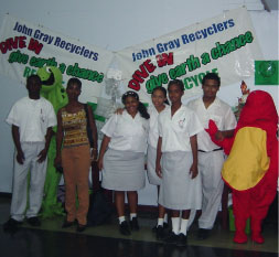 John Gray Recyclers with Ms Shannon McKenzie DOEH