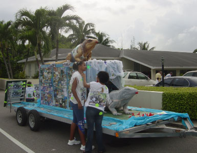 "Our Sponsor a ""Baby Blue"" Iguana float"